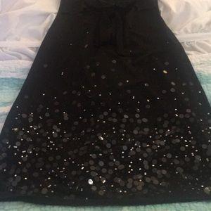 Charlotte Russe Black strapless sequins dress